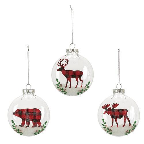 Deer Christmas Ornament red /& black