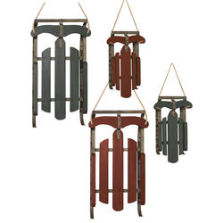 c681d3d19063d Enchanted Forest® Red Green Antique Wood and Metal Sled - Assorted Styles
