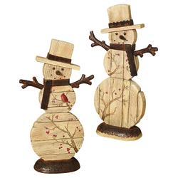 Enchanted Forest 10 7 Resin Snowman Figurine Assorted Styles At Menards