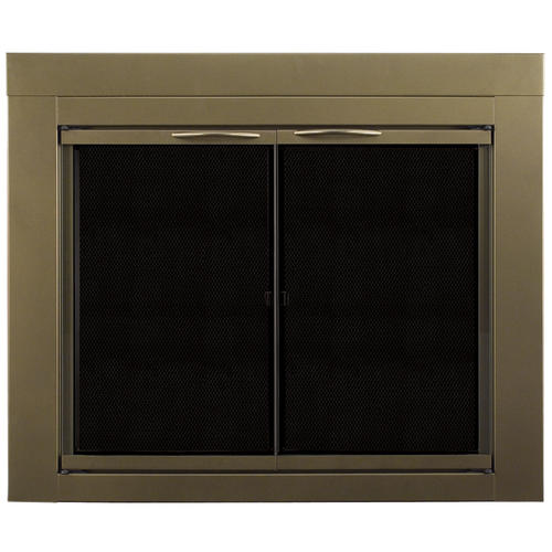 Pleasant Hearth Ashlynn Large Cabinet Style Fireplace Door