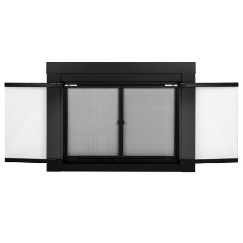 Pleasant Hearth Astor Large Cabinet Style Fireplace Door