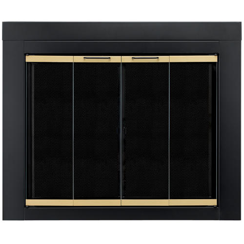 Pleasant Hearth Austin Small Bi Fold Style Fireplace Door