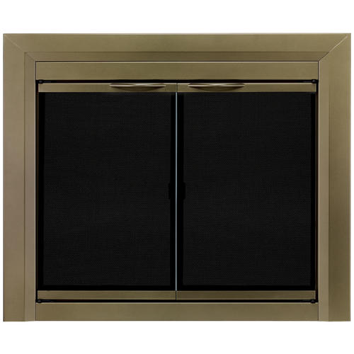 Pleasant Hearth Cahill Large Cabinet Style Fireplace Door