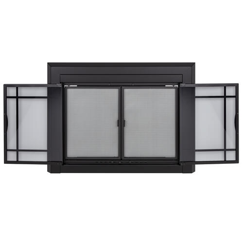 Pleasant Hearth Easton Large Prairie Cabinet-Style Fireplace Door ...