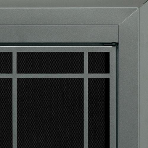 Pleasant Hearth Edinburg Medium Prairie Cabinet Style Fireplace Door