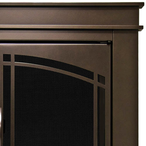 Pleasant Hearth Fenwick Small Cabinet Prairie Style Arched Fireplace Door