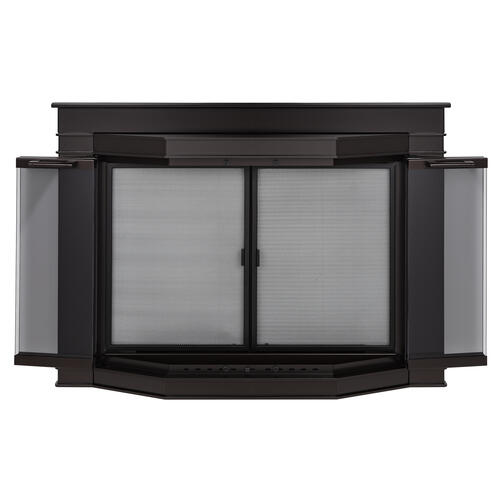 Pleasant Hearth Grantham Small Bi Fold Bay Style Fireplace Door At Menards