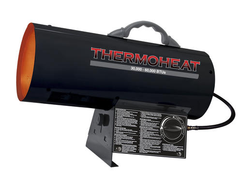 Forced Air Propane Heater >> Thermoheat 60 000 Btu Portable Forced Air Propane Heater At Menards