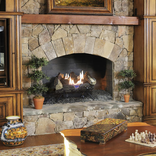 Pleasant Hearth Wildwood 18 Vent Free Dual Fuel Gas Fireplace
