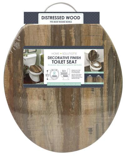Pleasing Distressed Wood Veneer Round Toilet Seat At Menards Uwap Interior Chair Design Uwaporg