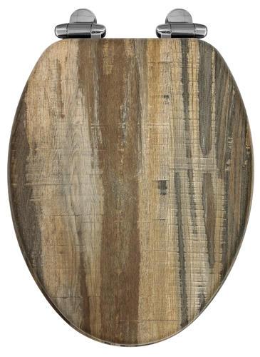 Astounding Home Solutions Distressed Wood Veneer Elongated Toilet Uwap Interior Chair Design Uwaporg