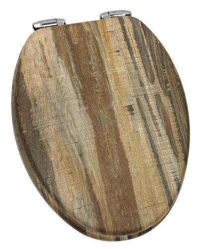 Miraculous Home Solutions Distressed Wood Veneer Elongated Toilet Customarchery Wood Chair Design Ideas Customarcherynet