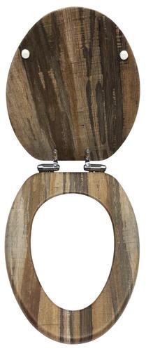 Magnificent Home Solutions Distressed Wood Veneer Elongated Toilet Uwap Interior Chair Design Uwaporg