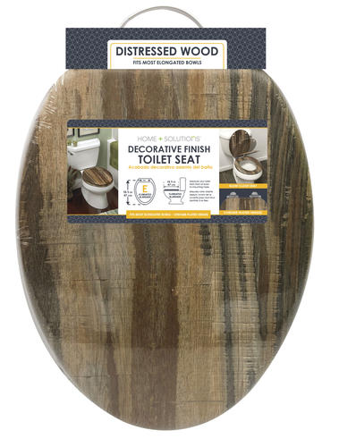 Awesome Home Solutions Distressed Wood Veneer Elongated Toilet Uwap Interior Chair Design Uwaporg