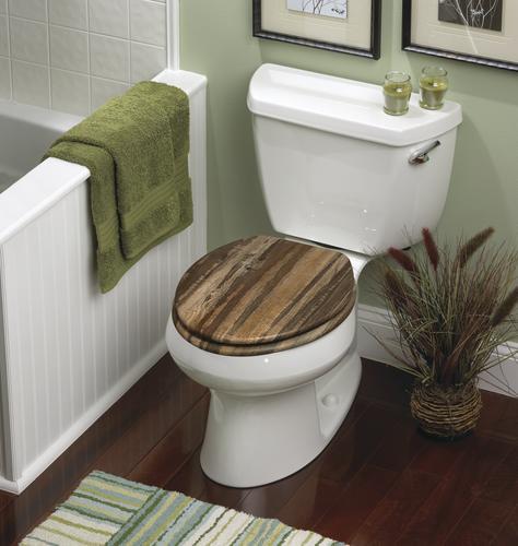 Fabulous Home Solutions Distressed Wood Veneer Elongated Toilet Uwap Interior Chair Design Uwaporg