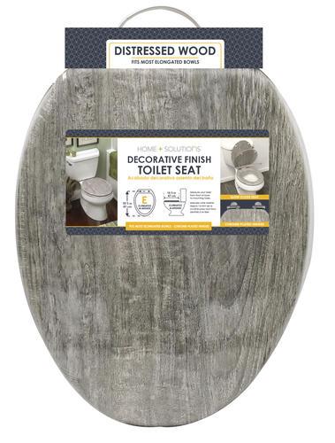 Pleasant Home Solutions Gray Wood Veneer Elongated Toilet Seat At Uwap Interior Chair Design Uwaporg
