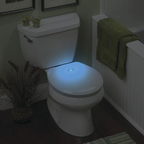 Superb Sharper Image Nightlight Round White Plastic Toilet Seat At Beutiful Home Inspiration Xortanetmahrainfo