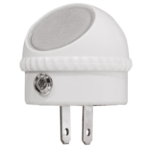 White Plug In Directional Night Light