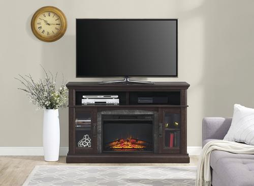 Whalen 54 Halsted Electric Fireplace Entertainment Center At Menards
