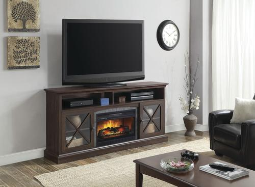 Whalen 72 Shelby Electric Fireplace Entertainment Center In