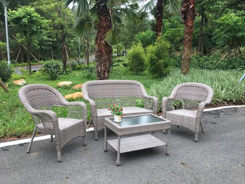 Miraculous Backyard Creations Stratton Collection 4 Piece Wicker Lamtechconsult Wood Chair Design Ideas Lamtechconsultcom