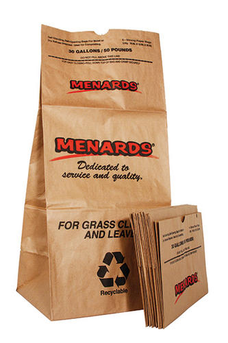30 Gallon Paper Lawn And Leaf Bags 5 Count At Menards