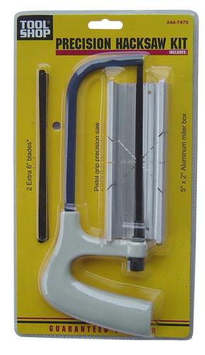 Tool Shop 6 Aluminum Handle Precision Hacksaw Kit At Menards