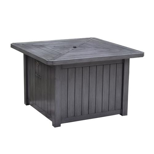 Backyard Creations Harbor Falls Square Lp Gas Fire Patio Table At