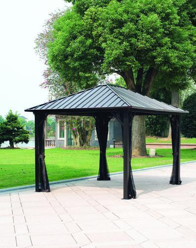 backyard creations sambra steel roof gazebo at menards - Metal Roof Gazebo