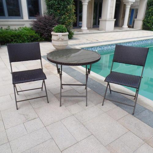 backyard creations piazzo 3 piece folding bistro patio set at menards - Bistro Patio Set