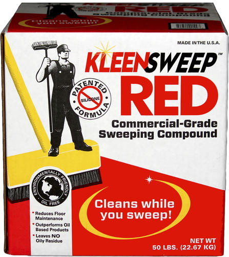 Kleen Sweep Red Commercial Grade Sweeping Compound 50 Lbs
