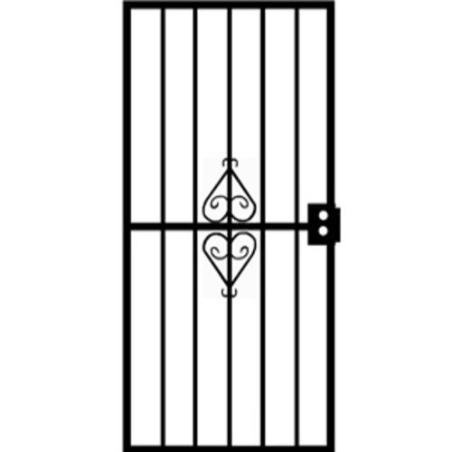 Grisham Protector Steel Security Screen Door With Reversible Hinging At Menards