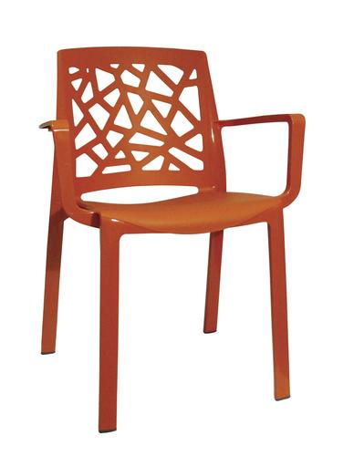 Grosfillex Stuart Dining Patio Chair In Orange