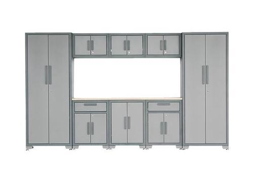 Performax 129 3 4 W X 76 1 H 18 2 D Gray 8 Piece Storage