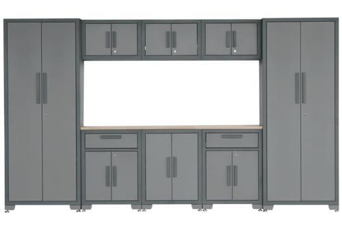 Performax® 129-3/4 W x 76-1/4 H x 18-1/2 D Gray 8-Piece Storage Cabinet System at Menards®  sc 1 st  Menards & Performax® 129-3/4