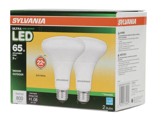 Sylvania® 65W Equivalent BR30 Soft White Dimmable LED Light