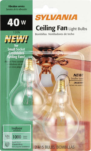 Sylvania 40 Watt A15 Dimmable Incandescent Light Bulbs 2 Pack At Menards