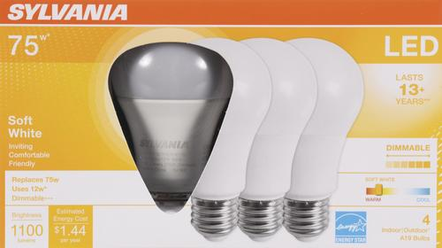 8 Pack LED Light Bulbs Dimmable 75W Equivalent Soft White A19 Energy Efficient