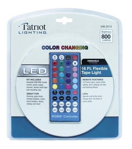 Patriot Lighting 16 Flexible Led Tape Light With Remote At Menards