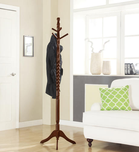 Home to Office Solutions® Walnut Finish Twisted Coat Tree ...