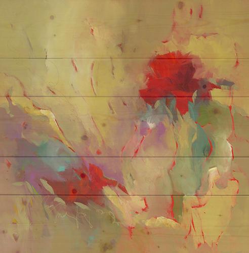 """20"""" x 20"""" She Talks To Butterflies Wood Wall Art by Barbera Krupp"""