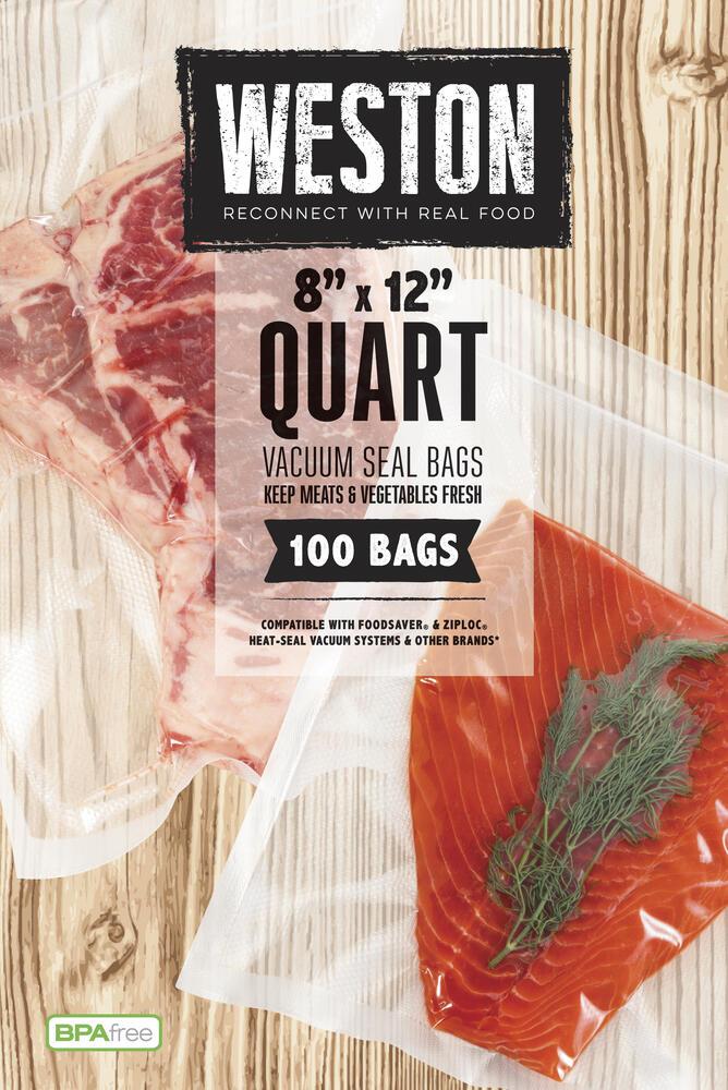 For Foodsaver Quart 8x12 Vacuum Seal Double Embossed Bags Weston /& More