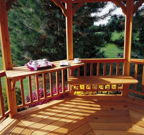 Incredible Handy Home Gazebo Bench Table Kit At Menards Ibusinesslaw Wood Chair Design Ideas Ibusinesslaworg