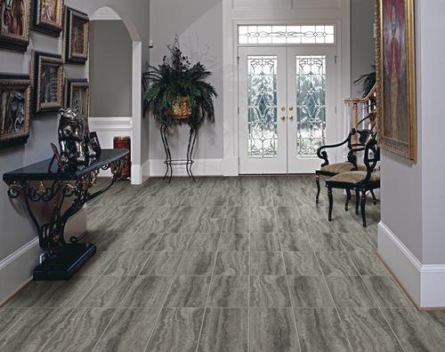 Designers Image Platinum Groutable Series X Self Adhesive - 12x18 floor tile