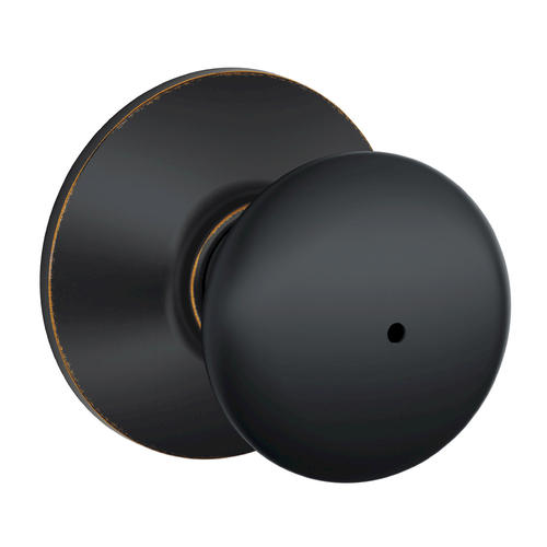 Schlage 174 Plymouth Aged Bronze Bed Amp Bath Privacy Knob At