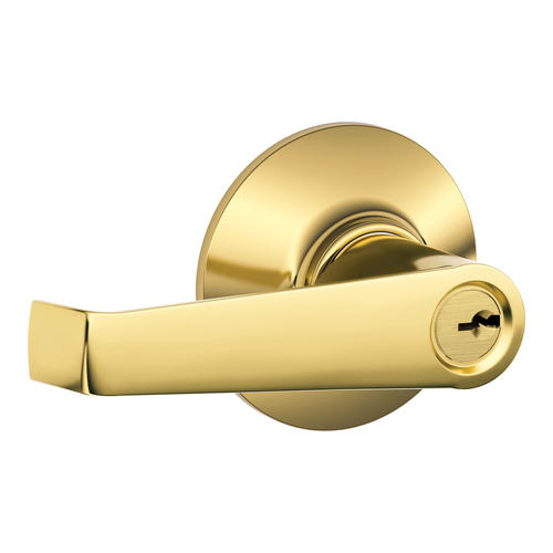 Schlage 174 Elan Lifetime Bright Brass Non Handed Keyed Entry