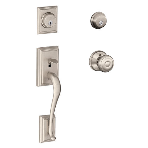 Schlage 174 Addison X Georgian Knob Satin Nickel Double