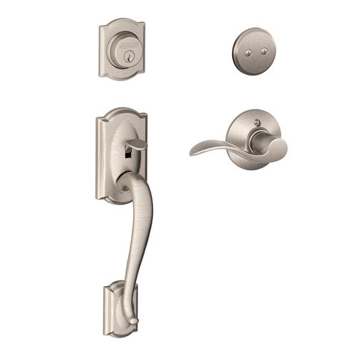 Schlage 174 Camelot X Accent Lever Right Hand Satin Nickel