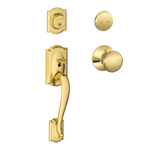 Schlage 174 Camelot X Plymouth Knob Lifetime Bright Brass