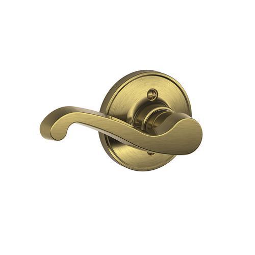 Schlage 174 Lasalle Antique Brass Left Hand Dummy Lever At